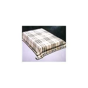 Safari Plaid Mink Blanket Plush Super Soft  Queen Size