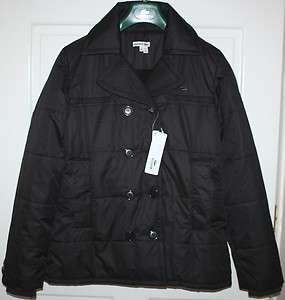 NWT Womens Black LACOSTE Jacket/Coat Size EU 42, US 10