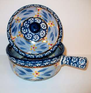 TEMP TATIONS TEMPTATIONS CROCK WITH LID   OLD WORLD BLUE   NEW   SHOP