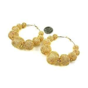 Balls Beads Basketball Wives Poparazzi Hoop Earrings