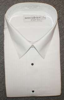 MARTINO MENS WHITE LAY DOWN COLLAR TUXEDO SHIRT ALL Sz