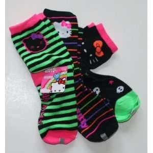 Hello Kitty Girls Ankle Socks 3 Pair Size 9 11 Multi