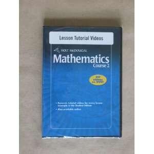 Tutorial Videos DVD ROM, Holt McDougal Mathematics Course 2 (Holt
