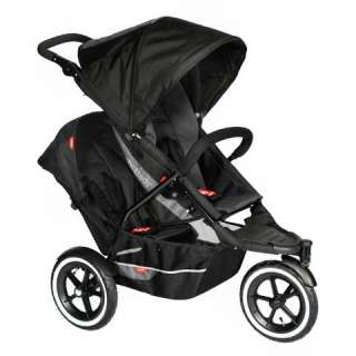 PHIL & TEDS Explorer Baby Stroller w/Double Kit   Black
