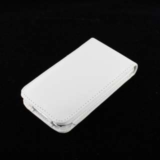 WHITE LEATHER FLIP CASE COVER For IPOD TOUCH 4TH GEN 4G