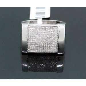 Mens Solid Gold Diamond Ring PMR 2145: Jewelry