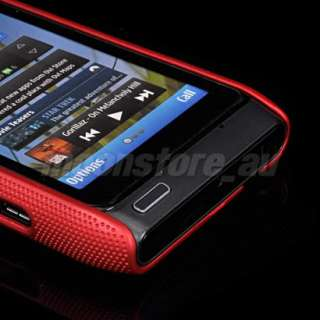 NEW DESIGN HARD MESH CASE COVER FOR NOKIA N8 RED