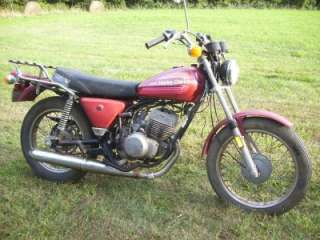 1976 AMF HARLEY DAVIDSON SS250 ENDURO MOTORCYCLE PARTS BIKE
