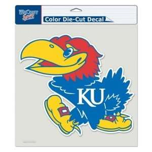 Kansas Jayhawks KU NCAA 8 X 8 Color Die Cut Decal