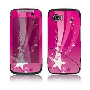 Pink Stars Decorative Skin Decal Sticker for HTC Mozart