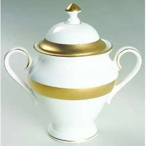 Waterford Fine China Kells (Gold) Sugar Bowl and Lid: Home