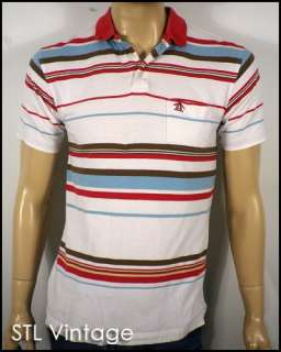vtg STRIPED mod PENGUIN by MUNSINGWEAR POLO SHIRT retro INDIE sz M