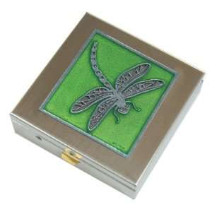Green Dragonfly Pill Box Large