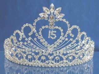 Quinceanera 15 Birthday Tiara Crystal Princess 1337FA