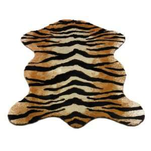 Tiger Pelt  Safari Collection  Faux Fur Rug  5 foot X 7 foot