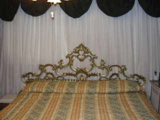RARE Vintage Replica Michael Jackson Gold Ornate Bed Headboard 56 X