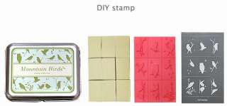 Lot of 9 Mountain Birds Owl DIY Unmounted Rubber Stamps Box Set  S0007