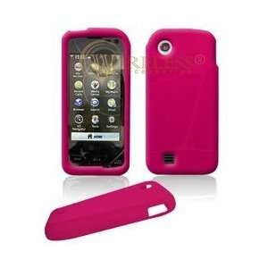 Premium Hot Pink Soft Silicone Gel Skin Cover Case for LG Chocolate
