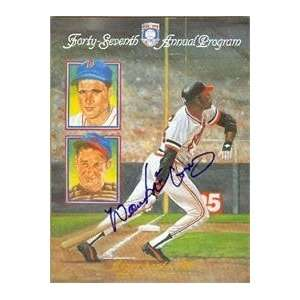 Willie McCovey autographed Hall of Fame Program (San Francisco Giants)