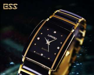 LONGBO New Ladies Womens Stylish Fashion Black Golden Quartz Wrist