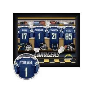 San Diego Chargers NFL Customized Locker Room 11 x 14