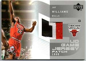JAY WILLIAMS 03 UD GAME JERSEY PATCH CARD SHORT PRINT
