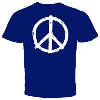 Peace hippie symbol T Shirts sign retro vintage World