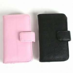 Pink Leather Wallet Case for Apple iPod Touch / iTouch