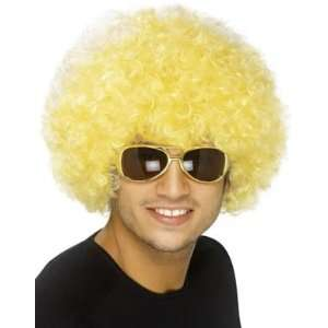 New Mens Womens Child Costume Blond Yellow Afro Wigs