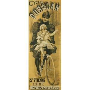 Bicycle Bike Cycles Lady Young Mother Child Riding Ouragan