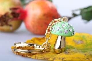 Item Name Lovely crystal keychain crystal mushroom key chain key ring