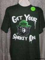 Medium Graphic Tee Tshirt Shirt Green Get Your Smokey On NEW Free ship