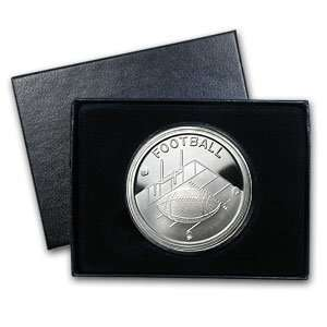 1 oz Football Silver Round (w/Gift Box & Capsule