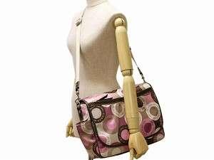 NWT Coach Snap Signature Baby Diaper Messenger Bag Purse Tote 18377