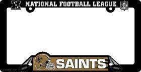 CAR LICENSE PLATE FRAME NEW ORLEANS SAINTS NFL FOOTBALL