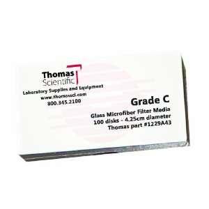 Thomas C4250 Borosilicate Glass Microfiber Filter, 1.2 Micron, Fast