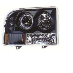 IPCW CWS 500B2 Clear Projector Headlight with Rings, Corners and Black