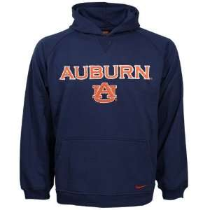 Nike Auburn Tigers Navy Blue Youth Tackle Twill Hoody
