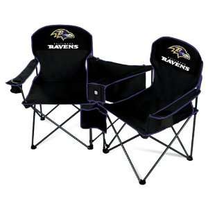 Baltimore Ravens NFL Deluxe Folding Conversation Arm Chair by