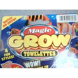 Glow Towelette Fish & Magic Grow Towelette Star Fish (Expands to 12 x