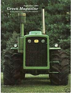 John Deere R tractor   Model MT   1991 Green magazine