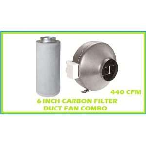 6 Inch Inline Duct Fan Carbon Filter Combo Scrubber