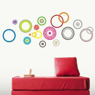 COLOR CIRCLE PEEL&STICK DECOR WALL STICKER #0018