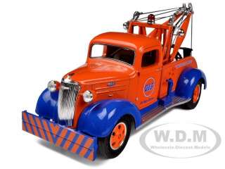 1937 CHEVROLET TOW TRUCK GULF OIL 1/34 DIECAST MODEL BY FIRST GEAR 19