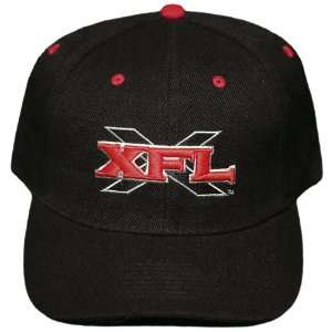 New Black XFL 3D Embroidered Adjustable Velcro Back Cap