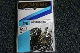 Owner Pro Pack Mutu Circle Hooks Sz #2/0 (Qty 34) #5363