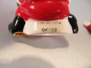 Christmas Mr & Mrs Claus Salt & Pepper Shakers Lefton
