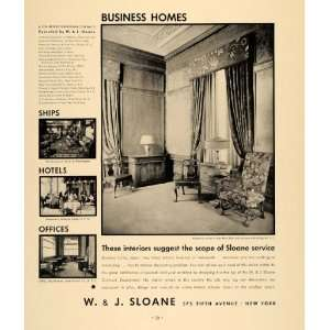 1935 Ad W J Sloane Home Design New York Insurance Bldg