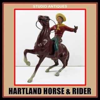 HARTLAND HORSE & RIDER Vintage Western Toy COWBOY w/ HAT Plastic