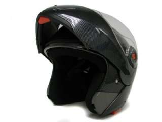 MODULAR FLIP UP DUAL VISOR SUN SHIELD MOTORCYCLE HELMET sz S M L XL